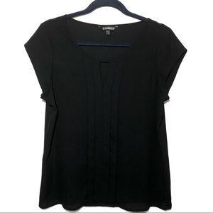 Express Short Sleeve Career Top Shirt Black